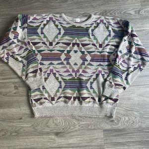 Vintage Bachrach Geometric Print Sweater